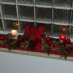decorazione natalizia sulla scala