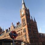 Underground train & St Pancras