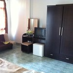 The furnitures in the room