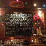 menu on chalkboard, 2/15/13