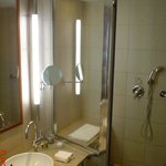 Nice large bathroom with quality shampoos, lotions etc and gowns....