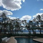 The pool overlooking Lake Fyans