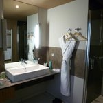 Italian Style Bathroom with robes and walk in shower
