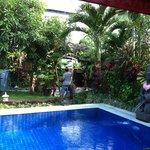 chillin by the pool at Villa Kaja