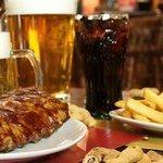 BBQ ribs & BBQ burger