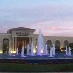 Entrance: Fountain and Sunset Sky.