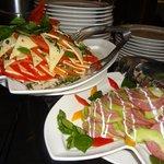 Yummi Salads at the Buffet Restaurant