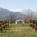 A wedding on the property - Check out the View!
