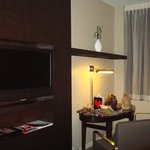 Dinig table and flat screen TV