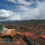 View of Cusco from hotel