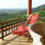 Patio lounger and view to Port Louis