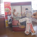 Flat Stanley at Denny's