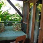 le balcon/terrasse intime et confortable