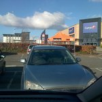 from the shops near the hotel halfords poundland tescos b&q and a few more sho