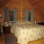 Upstairs Pine Cone room with king size bed & private bath