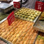 we tried almost every pastry or type of baclava in the shop!