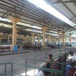 Busstation auf Mahe