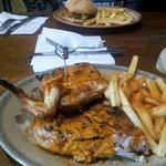 1/2 chicken and a beanie burger