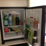 Well stocked bar-fridge