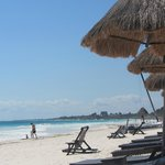 La Vita's room-assigned beach chairs- this a far more relaxi