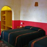 guest room with 2 queen beds and air conditioning
