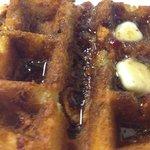 Caramal-Bacon Waffle  Sunday Brunch