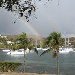 Rainbow over Oyster Pond