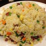 Fried rice with shrimps & BBQ roast pork