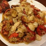 Lobster with Fried Rice Cake