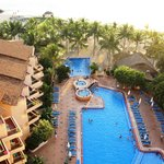 View of the pool and beach areas, from our balcony