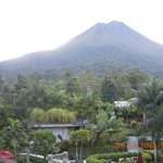 View of Arenal volcano from balcony