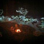 Fire circle at night