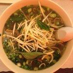 Delicious noodle soup
