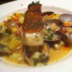 Sea Bass with clams entree