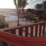 Great balcony with chairs and hammock