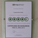 Tripadvisor certificat