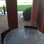 patio off golf course.