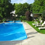 Beautiful backyard patio and pool