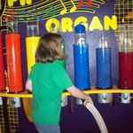 There's a vacuum that makes the organ play