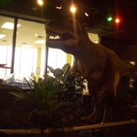 T-rex in the dinosaur exhibit