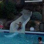 water slide at kids pool