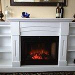 cozy fake fireplace