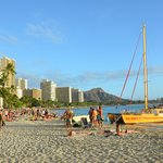 Waikiki Beach und Diamond Head