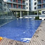 courtyard/garden level pool