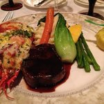 Lobster and steak dinner