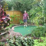 Miniature Golf in a Garden