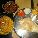 Dosa, Biryani and Side dish