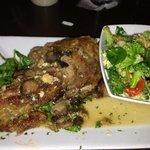 Stuffed Lamb Chop with Marsala  sauce mixed vegtables