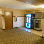ice and pop machines near elevators