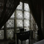 The beautifully designed window of Dar Arabe room - looking from inside